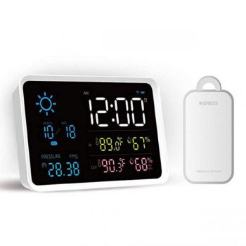 [EU stock - CZ] UIHome Indoor Outdoor Digital Weather Station Temperature And Humidity Display Atmospheric Pressure Weather Forecast Alarm Clock from Xiaomi Youpin