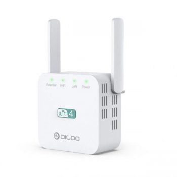 DIGOO DG-R611 300Mbps 2.4GHz WiFi Range Extender EU/US/UK Wall Plug Repeater