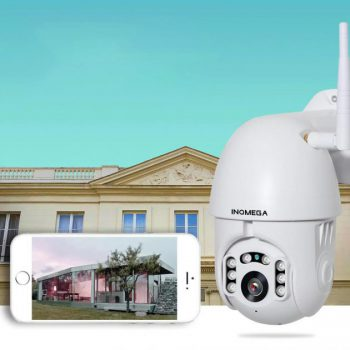 [EU stock - CZ] INQMEGA PTZ381 HD 1080P PTZ 360 ° Panoranic Waterproof IP Camera IR Night Version Two-way Audio