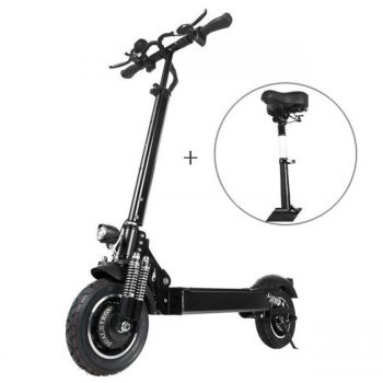 [EU stock - CZ] T10 2000W Dual Motor 23.4Ah 10 Inches Folding Electric Scooter with Seat