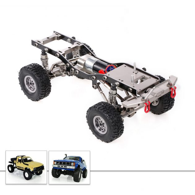 All Metal 4WD RC Car Frame For 1/16 WPL C24 C14 RC Car Without Electric Parts