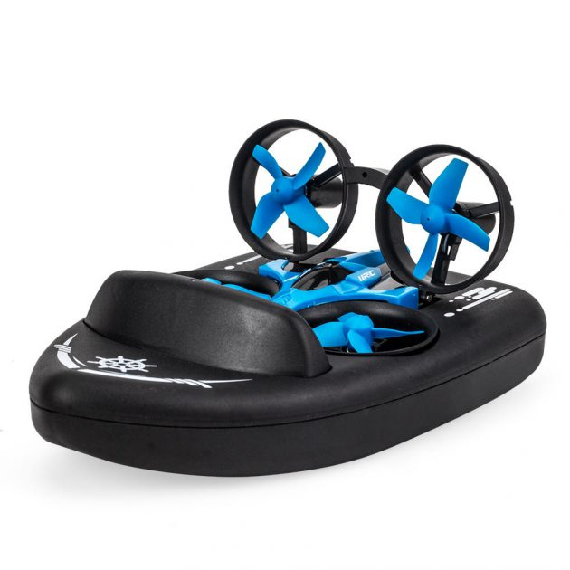 [EU stock - CZ] JJRC H36F Terzetto 1/20 2.4G 3 In 1 RC Boat Vehicle Flying Drone Land Driving RTR Model