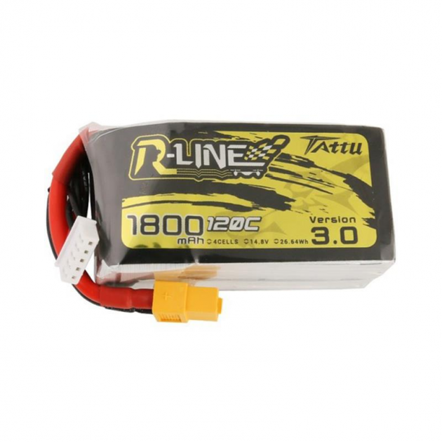 TATTU R-LINE Version 3.0 14.8V 1800mAh 120C 4S Lipo Battery XT60 Plug