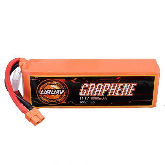 URUAV GRAPHENE 3S 11.1V 6000mAh 100C XT60 Plug Lipo Battery