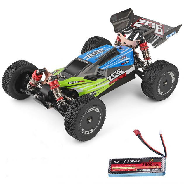 [EU stock - ES] Wltoys 144001 1/14 2.4G 4WD High Speed Racing RC Car Vehicle Models 60km/h Upgraded Battery 7.4v 2600mah