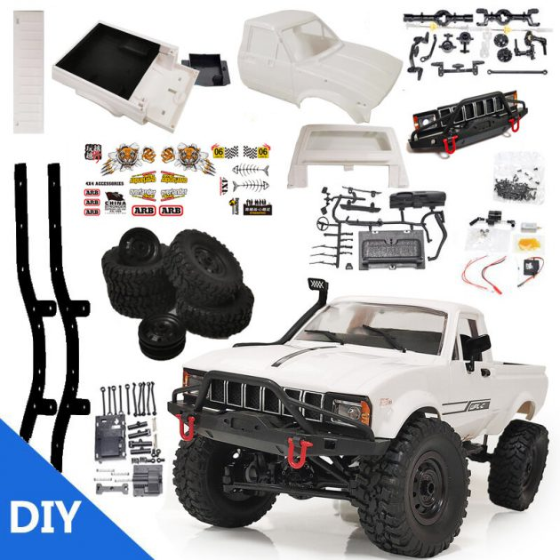 [EU stock - CZ] WPL C24 1/16 2.4G 4WD Crawler Truck RC Car KIT Full Proportional Control