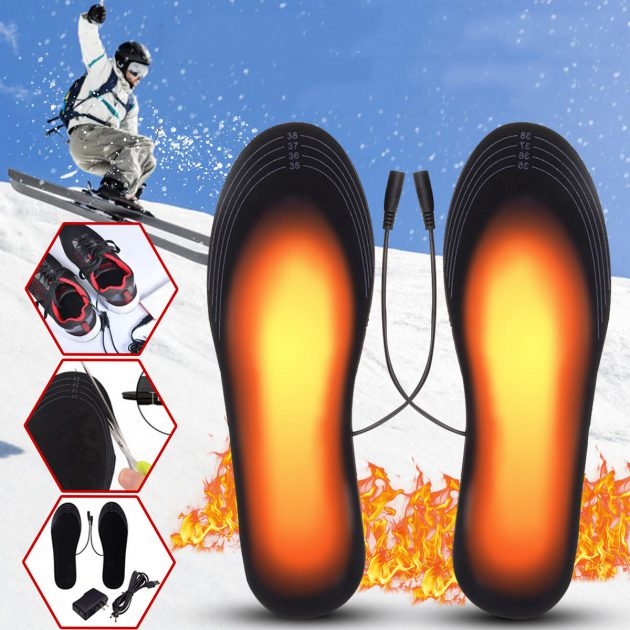 [EU stock - UK] 5V 2A Electric Heated Feet Shoe Insole USB With Adapter