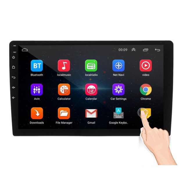Android 8.1 Car Stereo Radio MP5 Player 1+16G IPS 2.5D Touch Screen GPS WIFI FM