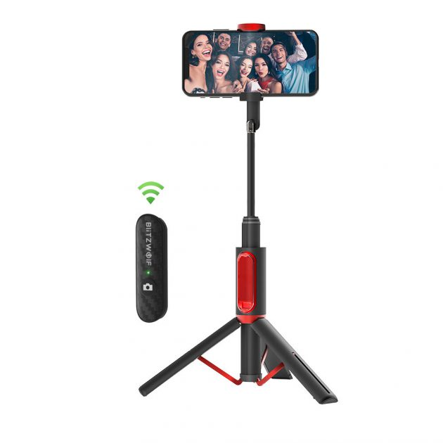 [EU stock - CZ] BlitzWolf BW-BS10 All In One Portable bluetooth Selfie Stick