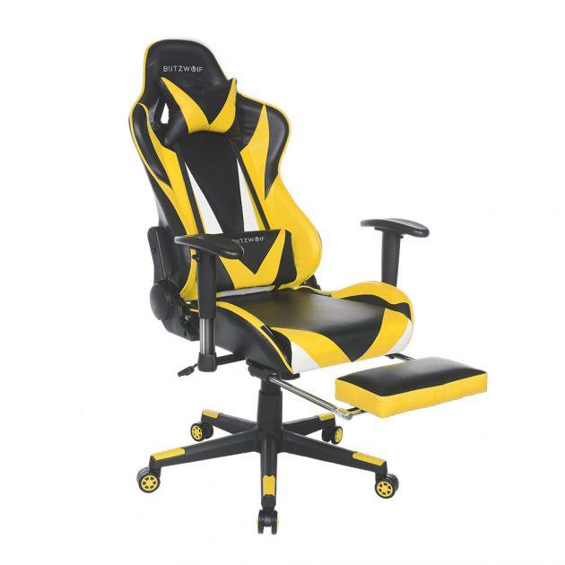 [EU stock - CZ] BlitzWolf BW-GC2 Updated Version Gaming Chair Ergonomic Design 180°Reclining Adjustable Armrest Footrest Widen Backrest Home Office - Blue