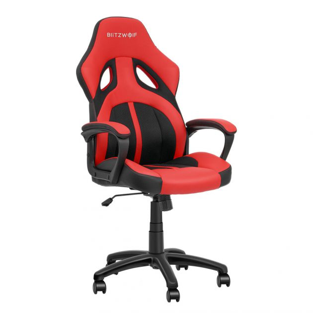 [EU stock - CZ] BlitzWolf BW-GC3 Racing Style Gaming Chair PU + Mesh Material Streamlined Design Adjustable Height Widened Seat Home Office