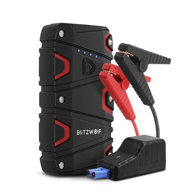 BlitzWolf BW-JS1 Portable Car Jump Starter 12000mAh 800A Emergency Battery Booster Power Bank