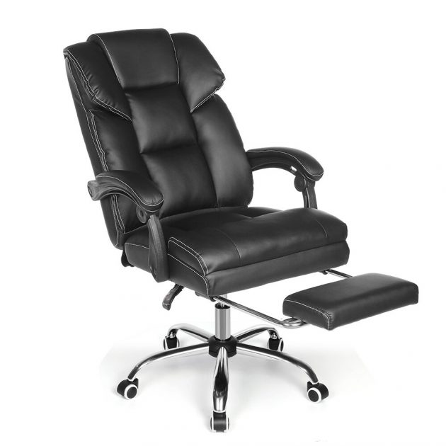 [EU stock - PL] BlitzWolf BW-OC1 Office Chair Ergonomic Design with 150°Reclining Wide Seat Retractable Footrest PU Material Lumbar Pillow