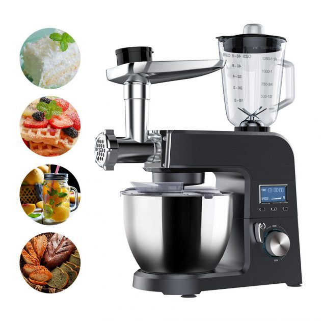 [EU stock - CZ] BlitzWolf BW-VB1 Stand Mixer ,1500W 8 Speed Tilt-Head Kitchen Food Mixer with 5.5L Stainless Steel Bowl,Dough Hook,Meat Grinder,Whisk,Juice Stirring,Egg-beater