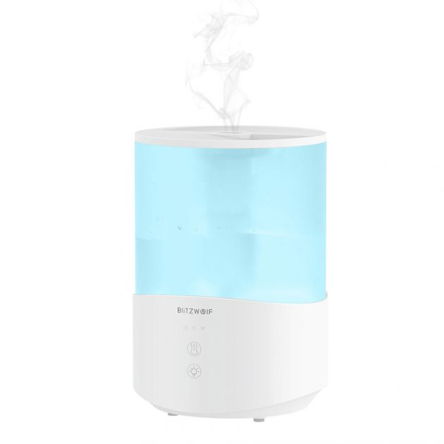 BlitzWolf BW-SH1 2.5L Ultrasonic Humidifier Essential Oil Diffuser 110-240V 360° Ultrasonic Humidification Touch Control Adjustable Mist Modes
