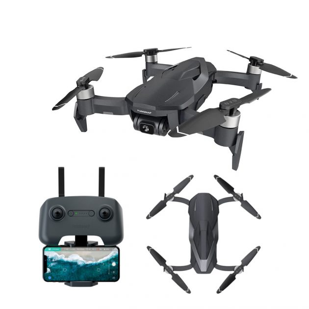 FUNSNAP DIVA 5.8G WIFI 2KM FPV GPS With 4K HD Camera Two-axis Anti-shake EIS Gimbal 30mins Flight Time RC Drone Quadcopter RTF