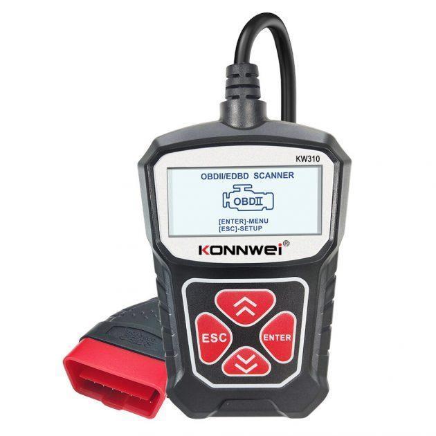 KONNWEI KW310 OBD2 Car Diagnostic Scanner EOBD Scan Tool DTC Engine Code Reader Voltage Test Built-in Speaker