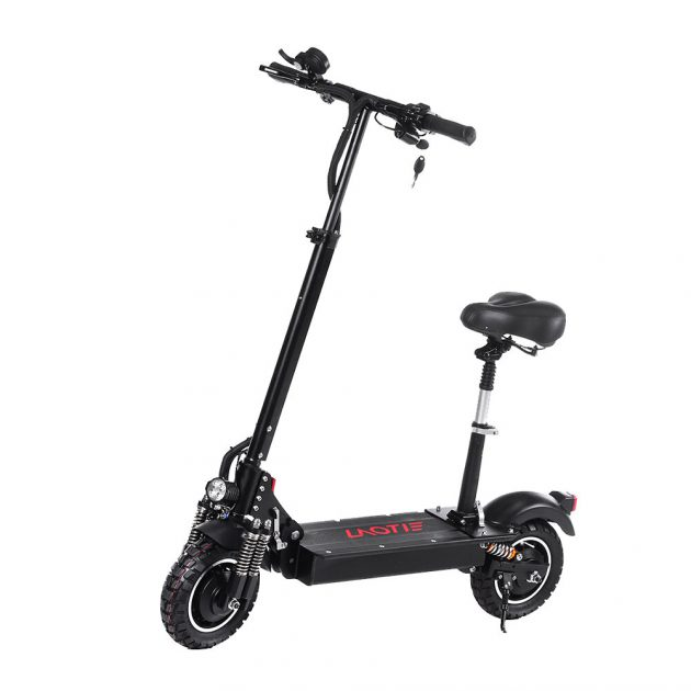 [EU stock - ES] LAOTIE ES10 2000W Dual Motor 23.4Ah 52V 10 Inches Folding Electric Scooter with Seat 70km/h Top Speed 80km Mileage Max Load 120kg