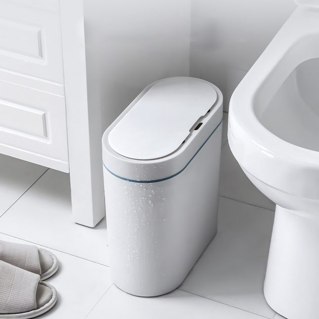 Smart Sensor Trash Can Electronic Automatic Household Bathroom Toilet IPX5 Waterproof Garbage Can