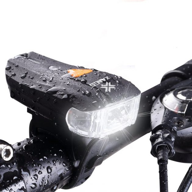 [EU stock - CZ] XANES 600LM XPG + 2 LED Bicycle German Standard Smart Sensor Warning Light Bike Front Light Headlight