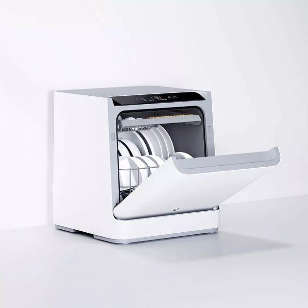 [EU stock - CZ] Xiaomi Mijia VDW0401M Internet Desktop Dish Washer for 4 Sets 6D Double Spray System 99.99% Sterilization Mijia Xiaoai Control
