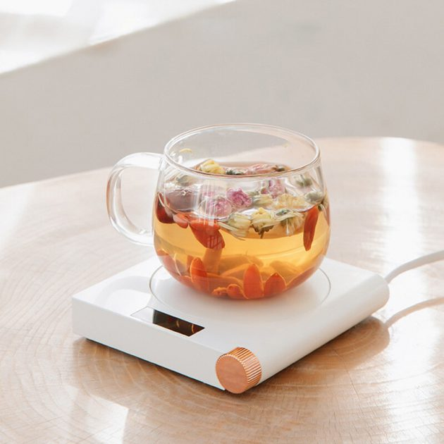 3life S07 55 Constant Temperature Cup Heating Mat 20W 5 Gear Digital Display Electric Tea Warmer for Home Office Travel