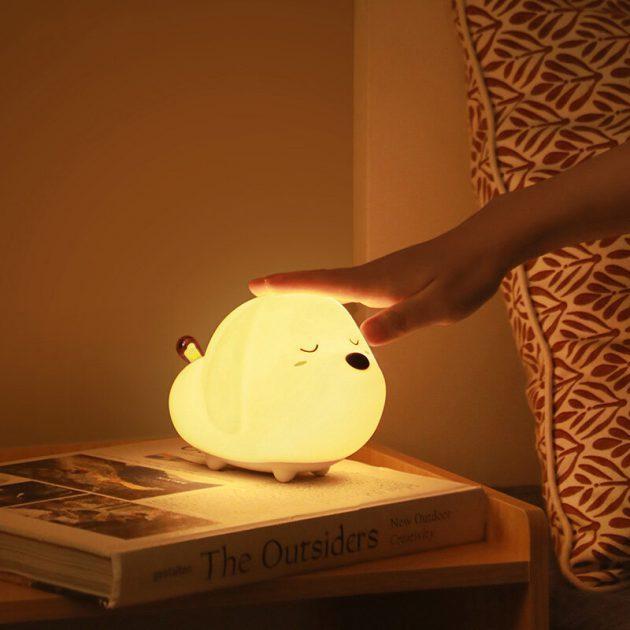 Baseus Dog Night Light USB Rechargeable Touch Sensor LED Lamp 3 Modes Control Light Night Decorative Lamp
