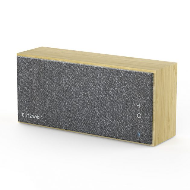 [EU stock - CZ] BlitzWolf BW-HA1 Bamboo bluetooth Speaker with Bamboo Material, Minimalism Style, Treble, Tenor, Bass Balance and Long Working Time