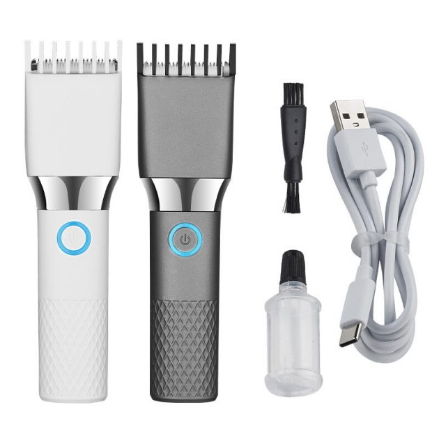 ENCHEN USB Electric Hair Clipper Trimmers for Men Adults Kids Rechargeable Wireless Professional Hair Cutter Machine - White