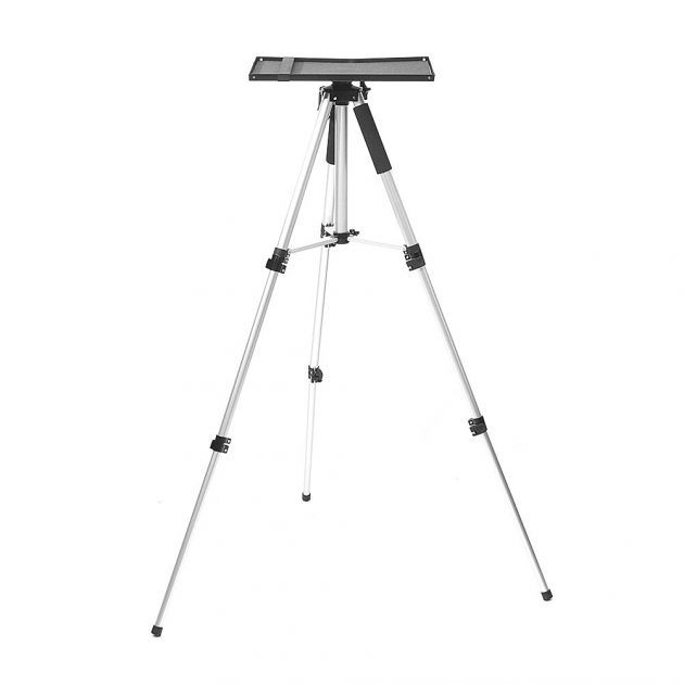 [EU stock - CZ] Projector Bracket Round Tube Thickening With Pallet 39*29 Adjustable Projector Tripod