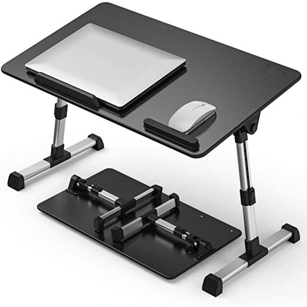 Upgrade Adjustable Laptop Desk Ergonomic Portable Vertical Table Foldable Lifting Table on Bed Used for Reading and Writing
