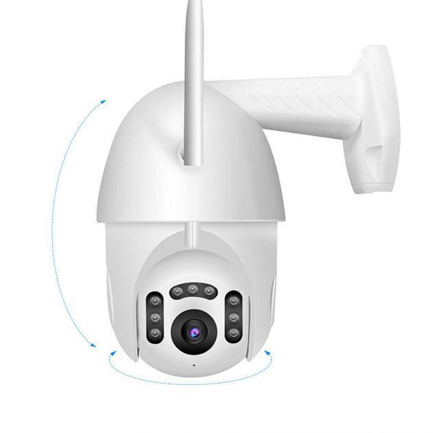 [EU stock - CZ] Xiaovv B7 Smart WIFI HD 1080P IP Camera 360° PT-Z Rotation H.265 Waterproof ONVIF Support 8 LEDS Infrared Night Version APP Camera - EU Plug