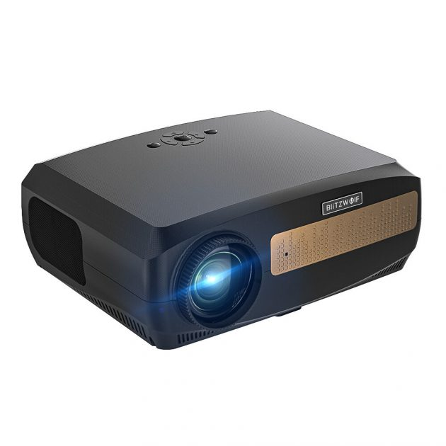BlitzWolfBW-VP9 Android 9.0 LCD Portable Projector Full HD Native 1920x1080 Pixels 6500 Lumens Bluetooth Voice Control for Google Play YouTube Netflix Digital Keystone Correction Up to 200-Inch Reflect Light Home Theater Outdoor Movie