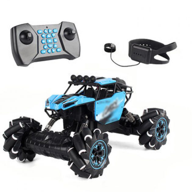 [EU stock - CZ] RC Stunt Car Twist Car Watch Induction Gesture Control Deformation Off-road Mode Flat Mode for Kid Gift - Red Dual mode