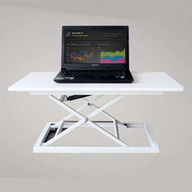 [EU stock - CZ] COMNENIR T10 Adjustable Height Sit Stand Desk Simple Modern Office Desk Riser Foldable Laptop Desk Notebook Stand