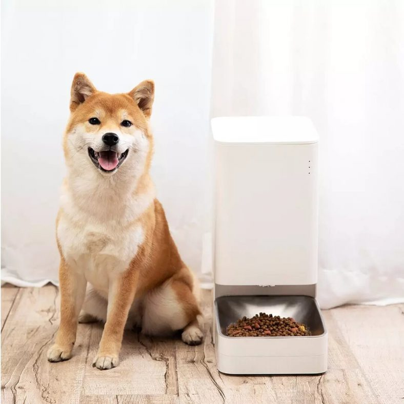 [EU stock - CZ] Xiaomi Mijia Smart Automatic Pet Food Dispenser Feeder Bowl APP Control Grain Delivery Container Intelligent Linkage For Dogs Cats Drinking Water Food Feeding Pets Supplies Accessories