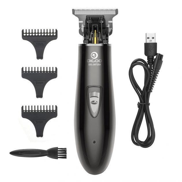 [EU stock - CZ] DIGOO DG-JM720A Cordless Electric Hair Trimmer 900mAh USB Rechargeable Hair Clipper Haircut Machine + 3 Limit Combs