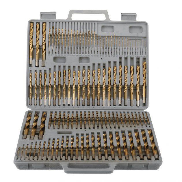 Drillpro 115pcs Titanium Plating Twist Drill Bit Set
