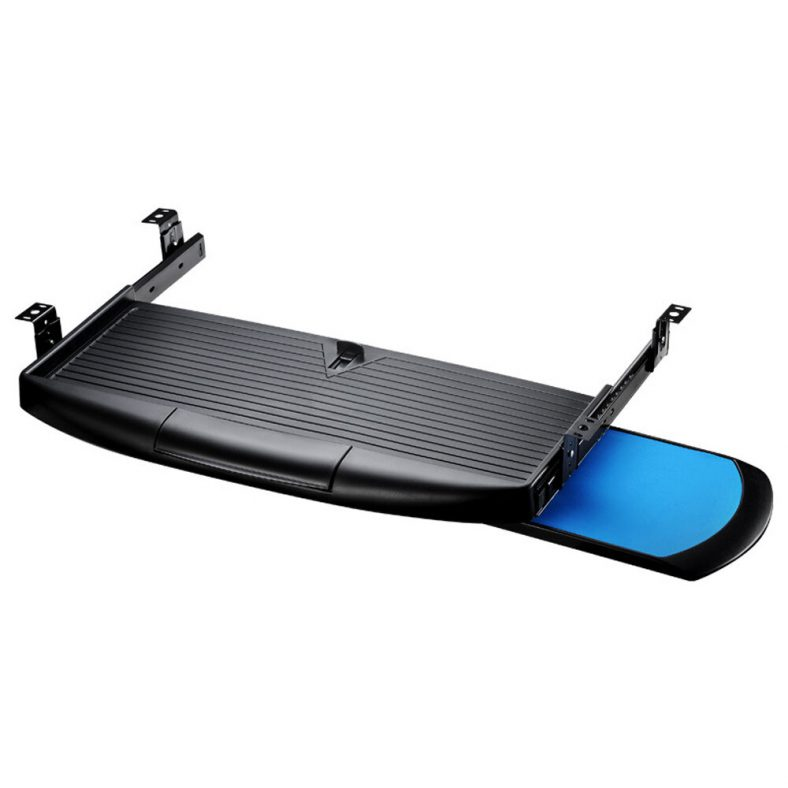 KD1 Keyboard Tray Under Desk Drawer with Retractable Mouse Mouse Tray for Office Desk
